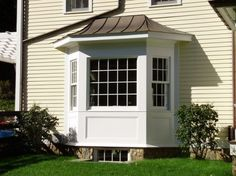 Box Bay Windowdecorative pieces under copper on topFor the