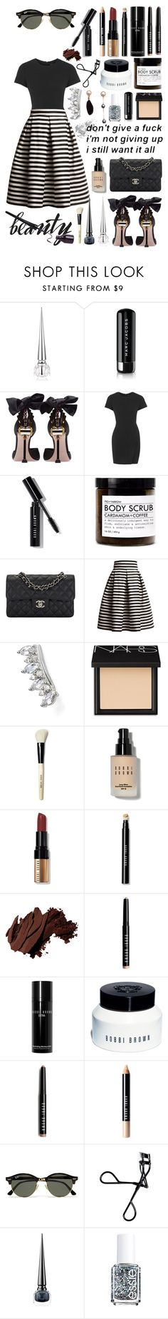 """""""I still want it all! #152"""" by lauren-yarrow ❤ liked on Polyvore featuring Christian Louboutin, Marc Jacobs, Miu Miu, Topshop, Bobbi Brown Cosmetics, Fig+Yarrow, Chanel, Rumour London, Meira T and NARS Cosmetics"""