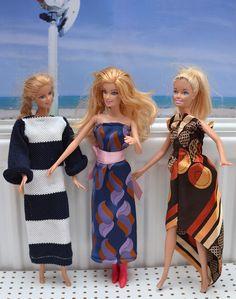 Upcycling-Barbiekleid aus Krawatte, Puppenkleid fast ohne Nähen Skirt Pants, Dress Skirt, Elegant, Barbie Dolls, Doll Clothes, Fashion Dresses, Cover Up, Summer Dresses, Sewing