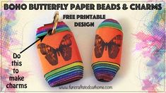 Paper Beads Tutorial, Make Paper Beads, How To Make Paper, How To Make Beads, Printable Designs, Free Printables, Paper Jewelry, Beading Tutorials, Free Paper