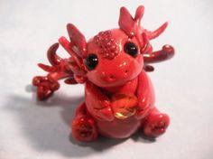 Elemental Fire Dragon Chibi by MaryBunnie