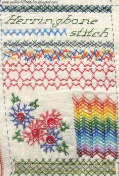 Make a whole book of stitch samplers? via Million Little Stitches