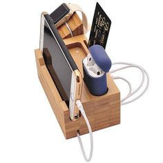 BoxThink 2018 Airpods Charging Station Apple Watch Charger Stand iphone Charging Dock Cable Management Bamboo Wood Charging Station with 3 USB Power Ports for AirPods/Apple Watch >>> Click image for more details. (This is an affiliate link) Apple Charging Station, Docking Station, Charging Stations, Iphone Apple Watch, How To Clean Iphone, Wooden Chargers, Airpods Apple, Apple Ipad, Police Officer Gifts