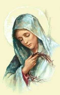 Blessed Mother Mary, Blessed Virgin Mary, Catholic Art, Religious Art, Catholic Prayers, Immaculée Conception, Hail Holy Queen, Our Lady Of Sorrows, Images Of Mary