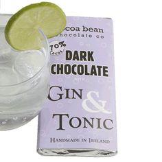 Dark Chocolate #Ginandtonic #SkelligsChocolate #handmadechocolate #irishgift