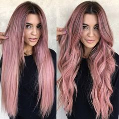 Ion Rose Quartz Flamingo Semi Permanent Hair Pink Rose Gold Hair