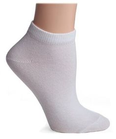 HUE Women's Low Rider Socks, 6 Pack, White HUE. $14.99