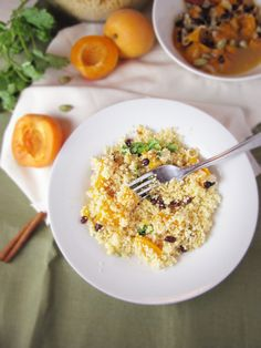 Fresh Apricots & Spiced Couscous - Katie at the Kitchen Door Couscous Recipes, Couscous Salad, Salad Recipes, Apricot Recipes, Veggie Dinner, Vegetable Side Dishes, Savoury Dishes, Real Food Recipes, Yummy Food