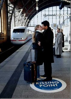 Kissing point. So cute!