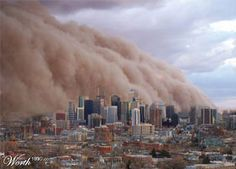 arizona dust storm. I remember this like it was yesterday holy crap haha
