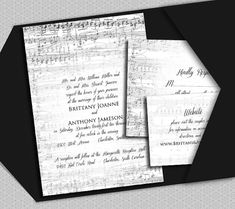 Music a printable Wedding Invitation Suite by nraevsky on Etsy, $15.00