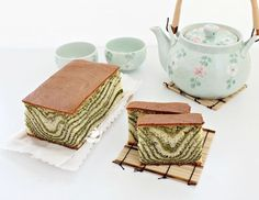Matcha Marble Castella Cake 抹茶斑马线长崎蛋糕 - Anncoo Journal