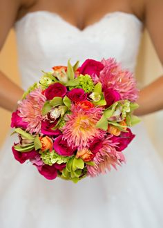 Lime Green and Pink Bouquet  Photo:  www.shoreshotz1.com/