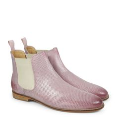 Susan 10 Salerno Perfo Rose Elastic Off White LS | Bottines | Chaussures femmes | Melvin & Hamilton