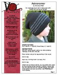 Full coverage over-sized slouch hat in heavy wool with folded hem and skinny stripes. Available in three sizes. Experiment with left-over yarn, stripe patterns and fair isle motifs. Suitable for men, women and children.