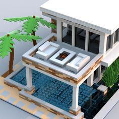 Legos, Lego Mansion, Casa Lego, Lego Furniture, Lego Display, Lego Activities, Lego Table, Lego Modular, Lego Design