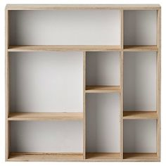 Wood Display Box with 8 Compartments - Natural/White Truck Ship - Studios : Target Regal Display, Wood Display, Display Boxes, Display Shelves, Shelving, Unique Wall Shelves, Shelf Wall, Wood Shelf, Shadow Box