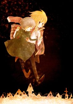 Howl's Moving Castle - adorable *____* (Sophie and Howl)