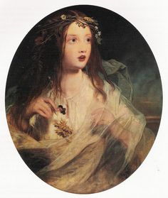 "James Sant (1820-1916) - ""Ophelia"""
