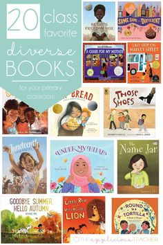 Love this collection of diverse books for the primary classroom. Great way to build classroom community that embraces difference. TheAppliciousTeacher.com Kindergarten Reading Activities, Comprehension Activities, Phonics Activities, Writing Activities, Literacy, Teaching Jobs, Teaching Writing, Third Grade Reading, Classroom Community