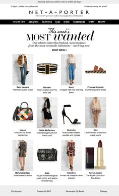 #newsletter Net a porter 03.2015 This week's most wanted