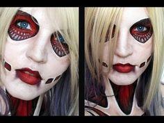 Female Titan | Attack on Titan - Makeup Tutorial - YouTube