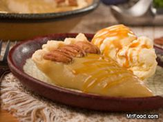 Gooey Amish Caramel Pie...dangerous! ;) ...Made with lots of brown sugar, milk, eggs, buttter & other ingred*