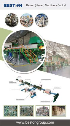 Beston waste sorting machines for sale with the advanced technology and large capacity. And this kind of sorting plant prices are also very reasonable. Trash Dump, Film Paper, Solid Waste, Recycling Ideas, Plastic Film, Garbage Can, Sorting, Household, Foundation
