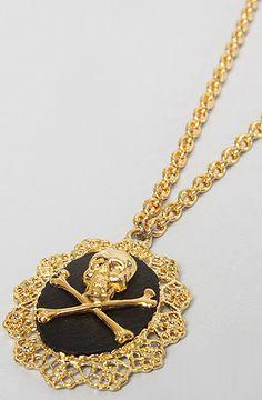 Skull + Crossbones Necklace