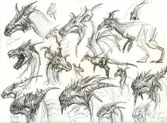 dragon head designs by yty2000.deviantart.com on @deviantART