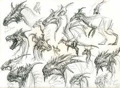 dragon head designs by yty2000.deviantart.com on @deviantART