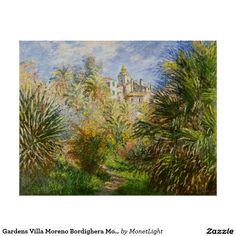 Gardens Villa Moreno Bordighera Monet Fine Art Poster