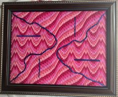 Great Idea for Bargello Sampler – Nuts about Needlepoint Bargello Patterns, Bargello Needlepoint, Bargello Quilts, Wool Thread, Cotton Thread, Make Your Own, Make It Yourself, Palestinian Embroidery, Embroidery Motifs