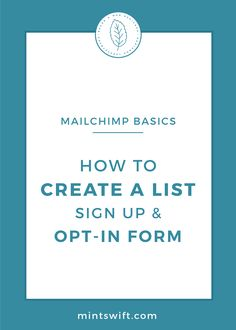 Learn the MailChimp Basis, so you know how to create an email list. See how to set up and customize signup form to collect email addresses on your website Email Marketing Campaign, Email Marketing Strategy, Small Business Marketing, Online Business, Media Marketing, Business Checks, Business Tips, Blog Categories, Email List