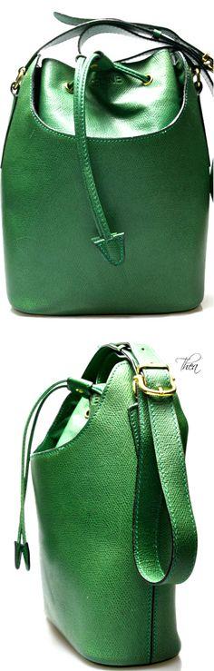CELINE ● Vintage Green Drawstring Duffel Bag
