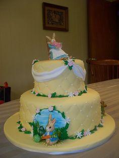 Baby Shower Cake, Peter Rabbit Cake, Beatrix Potter Cake