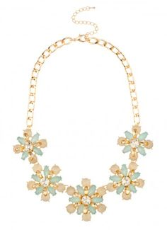 Asterace Glass Strand Necklace Mint at Prima donna ($24.99)
