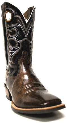 Ariat Men's Crossfire Cowboy Weathered Buckskin Boots -- Get your very own pair of classic cowboy boots from South Texas Tack today! | SouthTexasTack.com