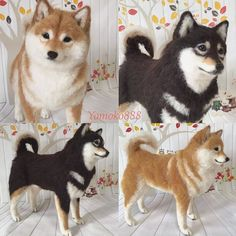 yomoko888(@moko824428)さん   Twitter Baby Animals Super Cute, Cute Animals, Needle Felted Animals, Felt Animals, Wet Felting, Needle Felting, Cute Giraffe, Felt Dogs, Cute Animal Drawings