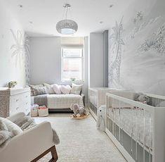 Twin Nursery Gender Neutral, Nursery Twins, Nursery Room, Nursery Ideas, Project Nursery, Nursery Inspiration, Twin Baby Rooms, Twin Babies, Twin Nurseries