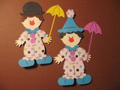 Clown Paper Doll diecuts- 4 inches tall-cricut