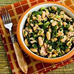 White Bean Salad Recipe with Tuna and Parsley (Dairy-Free, Gluten-Free)