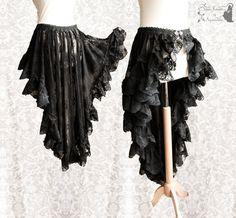 Wrap skirt lace Victorian Steampunk bustle by SomniaRomantica