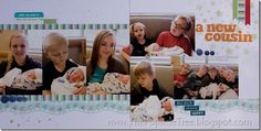 A new cousin scrapbook page
