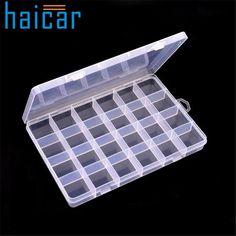 Haicar organizer Plastic 24 Slots Adjustable Jewelry Storage Box Case Craft Organizer Beads U70220 DROP SHIP porta joias #Affiliate