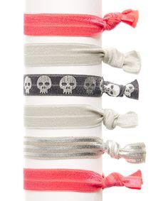 Cross & Bones Hair Tie Set by Bel Fiore #zulily #zulilyfinds