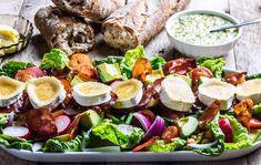 Ole Martin Alfsens salat med spekeskinke, chevre og vinaigrette Crunches, Vinaigrette, Cobb Salad, Low Carb Recipes, Salad Recipes, Salads, Good Food, Favorite Recipes, Eat