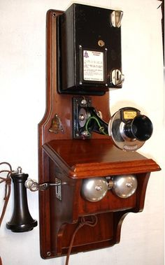 Telephone Booth, Vintage Telephone, Antique Phone, Vintage Phones, Old Phone, Antique Items, Old And New, Liquor Cabinet, Storage