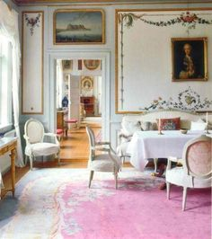 Early Gustavian eighteenth century Swedish manor, west of Stockholm. Gustavian style is in essence the style brought to Sweden by King Gustav III. A ruler who propagated culture and an advocate of the European Enlightenment, the King's patronage of...