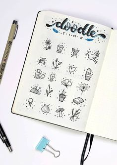 Kawaii Pen Shop Cute little Bullet Journal doodles by ig @ dutch_dots. Bullet Journal Inspo, Bullet Journal 2019, Bullet Journal Ideas Pages, My Journal, Dotted Bullet Journal, Bullet Journal Ideas Handwriting, Planner Doodles, Bujo Doodles, Cute Journals